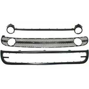 Bumper Kit For 98 2000 Beetle Front Valance Grille Assembly And Bumper Trim 3pc