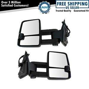 Towing Mirror Power Heat Turn Memory Upgrade Spotlight Pair For Gm Suv New