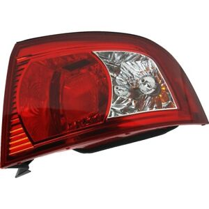 Halogen Tail Light For 2003 2006 Kia Optima Right Outer Clear red Lens W Bulbs