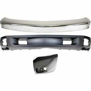 Bumper Kit For 2007 2008 Chevy Silverado 1500 Front Left With Tow Hook Holes 3pc