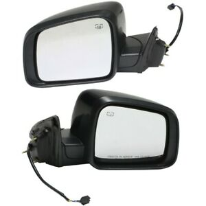 Power Mirror Pair For 2011 2018 Jeep Grand Cherokee Heated Paintable