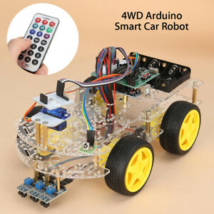 Diy 4wd Four Wheel Drive Double deck Smart Robot Car Starter Set For Arduino