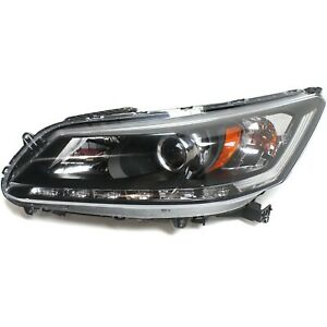 Headlight For 2013 2015 Honda Accord Ex L Touring 6cyl Sedan Left With Bulb Capa