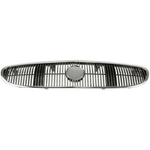 Grille Chrome Black Insert Front For 97 02 Buick Century
