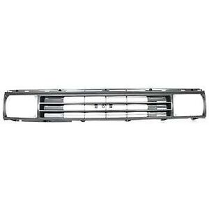 Grille For 87 88 Toyota Pickup Silver Shell W Black Insert Plastic