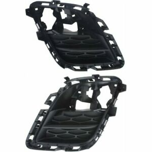 Fog Light Trim Set For 2010 2012 Mazda Cx 7 Left Right Black Plastic 2pc