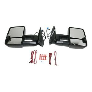 New Mirrors Set Of 2 Driver Passenger Side Heated For Chevy 15904035 pfm Pair