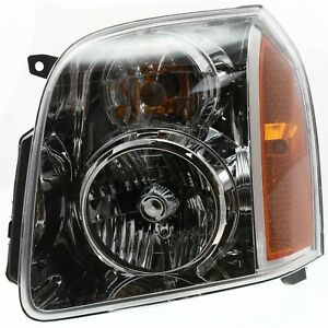 Halogen Headlight For 2007 2014 Gmc Yukon Left W Bulb