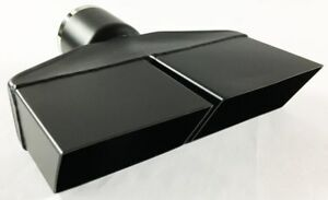 Exhaust Tip 2 50 In Inlet 8 25 X 2 25 Rectangle 8 25 In Lg Dual Slant Split Hi