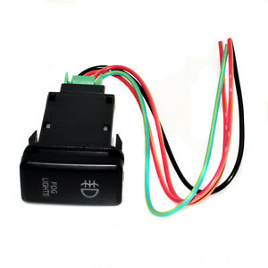 Fog Light Push Switch For Toyota Fj Cruiser Fortuner Hilux Tacoma With Red Led