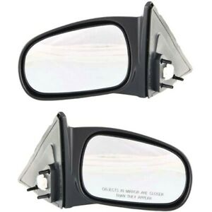 Power Side View Mirrors Left Right Pair Set New For 96 00 Civic 4 Door Sedan