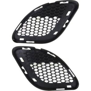 Bumper Grille For 2012 2013 Jeep Grand Cherokee Set Of 2 Lh Rh Textured Black