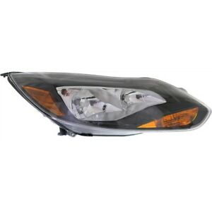 Headlight For 2012 2013 2014 Ford Focus Hatchback Or Sedan Right With Bulb Capa