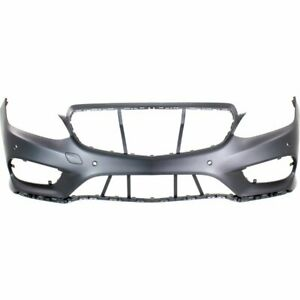 Front Bumper Cover For 2014 2016 Mercedes Benz E350 Sedan Wagon W Amg Parktronic