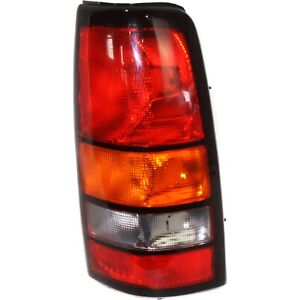 Halogen Tail Light For 2004 2007 Gmc Sierra 1500 Fleetside Right Amber clear red