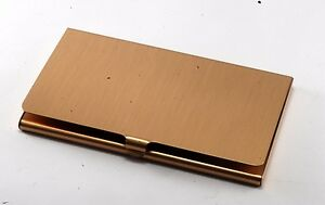 Rare citicorp Mortgage Gold Tone Business Card Holder Case New Old Stock
