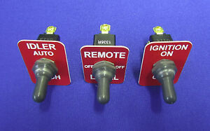 Fits Lincoln Rig Welder Sa 200 250 Toggle Switch Apm Hexseal Red Legend Plates