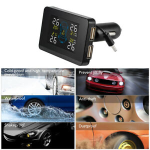 Wireless Lcd Digital Tire Pressure Monitoring System 4 Internal Sensors Ma1571