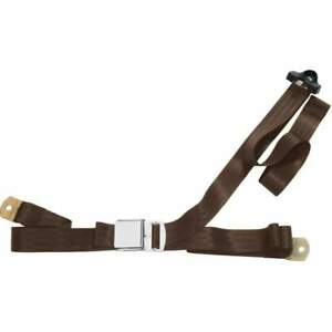 Beams Ch300 dk Brown Seat Belt Dark Brown 3 point Universal