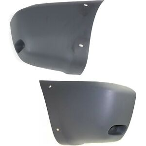 Bumper End Caps Set For 2001 2005 Toyota Rav4 With Fender Flare Holes Textured