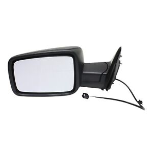 Manual Mirror For 2013 2018 Ram 1500 2500 Left Textured Black With Temp Sensor