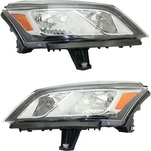 Headlight For 2013 2017 Chevrolet Traverse Pair Driver And Passenger Side Capa