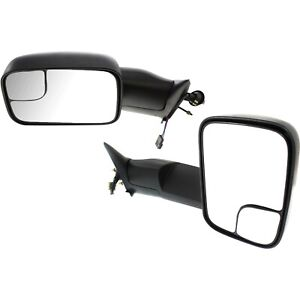 Set Of 2 Power Towing Mirrors Rh Lh For 94 97 Ram Truck Dodge 1500 Manual Fold