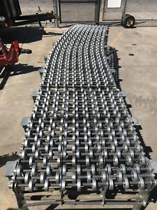 Industrial Nestaflex Flexible Expandable Gravity Roller Conveyor Belt Commercial