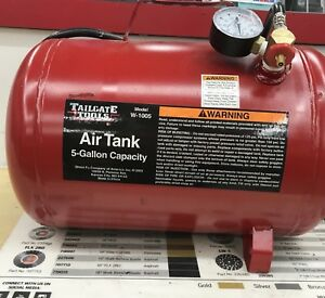 Tailgate Tool Air Tank 5 Gallon Model W 1005 Portable Commercial Floor Model