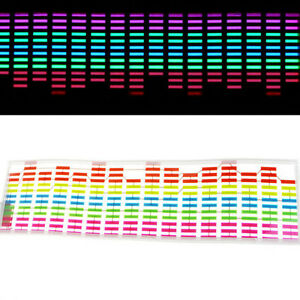 45 X 11cm Sound Music Video Activated Sensor Car Sticker Led Light Equalizer