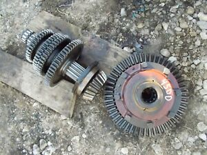 Farmall 400 450 Tractor Transmission Pinion Differential Set Drive Gears Shaft