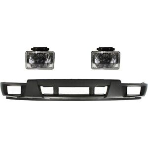 Bumper Cover Kit For 2004 2012 Chevy Colorado Front With Holes For Fog Light 3pc