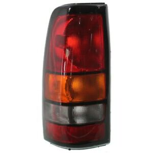 Halogen Tail Light For 2004 2007 Gmc Sierra 1500 Fleetside Left Amber clear red