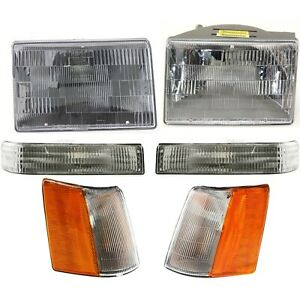Headlights Parking Corner Lights Left right Pair Set For 93 96 Grand Cherokee