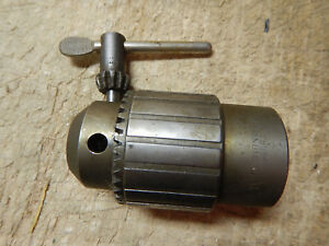 Older Jacobs Metal Lathe Headstock Chuck 1 1 2 8 With Key 1 8 5 8