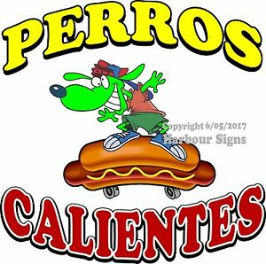 Perros Calientes Decal choose Your Size Hot Dog Food Truck Concession Sticker