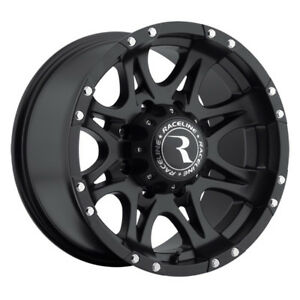 4 17 Inch Raceline 981 Raptor 17x9 8x165 1 8x6 5 12mm Matte Black Wheels Rims