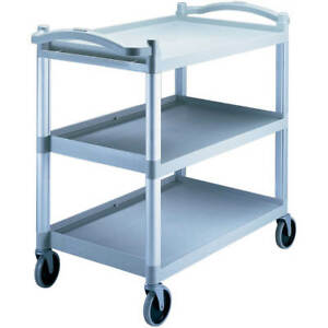 Cambro Heavy Duty Utility Cart Knocked Down Speckled Gray Bc340kd 480