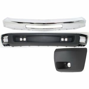 Bumper Kit For 2007 2008 Silverado 1500 Front Left 3pc