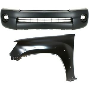Bumper Cover Kit For 2005 2011 Tacoma Base Prerunner 2wd 4wd Front 2pc
