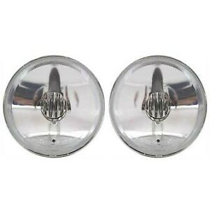 Set Of 2 Clear Lens Fog Light For 2003 06 Chevrolet Tahoe Lh Rh W Bulbs