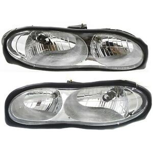 Headlight Set For 98 2002 Chevrolet Camaro Left And Right With Bulb 2pc