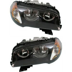 Headlight Set For 2004 2005 2006 Bmw X3 Left And Right With Bulb 2pc