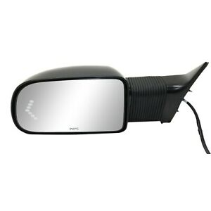 New Towing Mirror Driver Left Side Full Size Truck Chevy Heated Power Primed