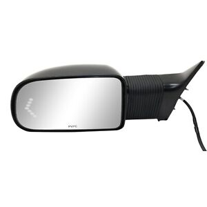 New Towing Mirror Driver Left Side Full Size Truck Chevy Heated Power Primered