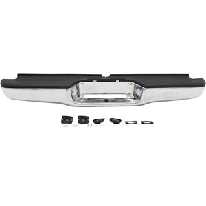 Step Bumper For 95 04 Toyota Tacoma Chrome Steel W Pads Standard Bed