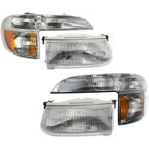 Explorer Mountaineer Headlights Parking Corner Lights Left Right Pair Set