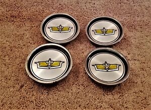 Chevy Caprice Classic Wire Wheel Center Cap Set Oem 4 Pieces