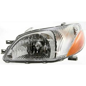 Headlight For 2000 2001 2002 Toyota Echo Base Model Left Clear Lens With Bulb