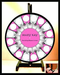 Prize Wheel 18 Spinning Tabletop Portable Mary Kay Starburst Center